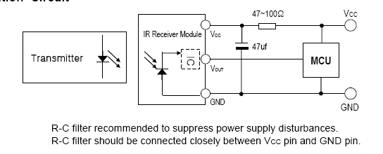 一体化接收头内部电路图如下